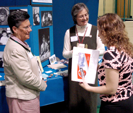 NUNS SPEAK WITH WOMAN AT CAREER FAIR IN PENNSYLVANIA