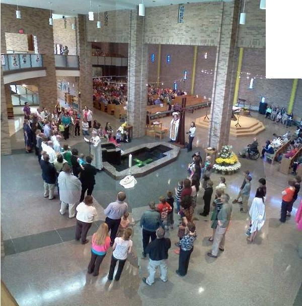 baptism at Mass