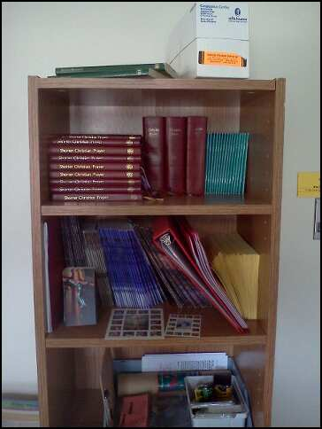 prayer books in sacristy