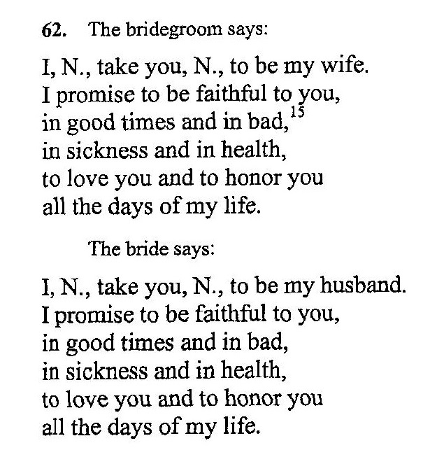 Catholic Wedding Readings: Exchanged, Received, Acclaimed