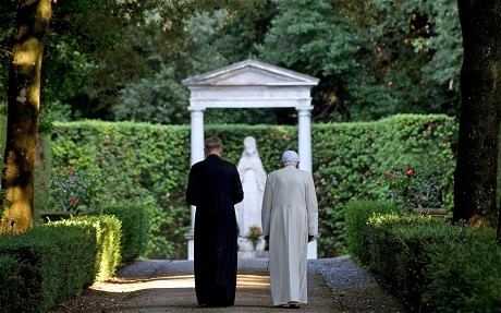 Pope Benedict XVI at his summer residence of Castel Gandolfo, Rome, Italy - 26 Jul 2010