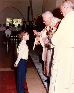 boy at eucharist