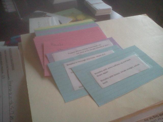 rehearsal cards